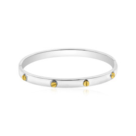 Sterling Silver Screwhead Bangle 82010521