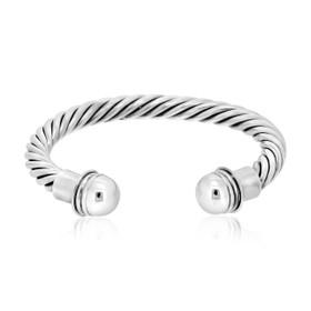 Sterling Silver Twist Bangle 82010520