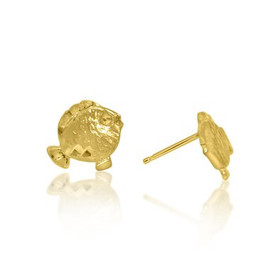 14K Yellow Gold Fish Studs Earrings 40002276