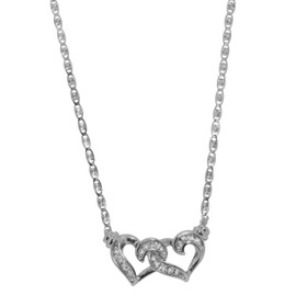 14K White Gold Two Hearts Chain 30002113