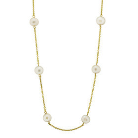 14k Yellow Gold Fresh Water Pearl Necklace 32000491