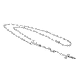 14K White Gold Rosary Chain 30001486