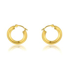 14K Yellow Gold Fancy Round Hoop Earrings 40002273