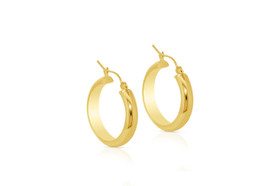 14K Yellow Gold Hoop Earrings 40002280-E