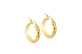 14K Yellow Gold Hoop Earrings 40002280-E