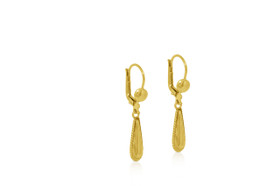 10K Yellow Gold Fancy Drop Earrings 49000129