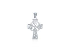14K White Gold Cross Charm 50002727
