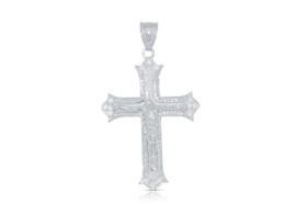 14K White Gold  Diamond Cross Charm 51000570