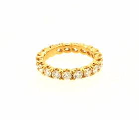 14K Yellow Gold Diamond Eternity Wedding Band 11005436