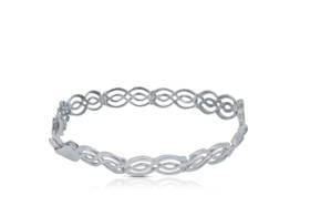 14K White Gold Fancy Bracelet 20000483