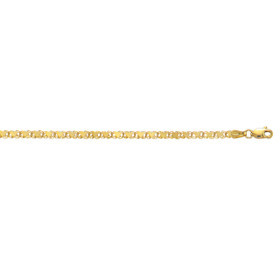 10K 10-inch Yellow Gold 3.0mm Diamond Cut HEarRingt Link Anklet with Lobster Clasp 1HC-10