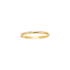 14K 5.5mm Yellow Gold All Shiny Bangle with Clasp 2/16SB-0550
