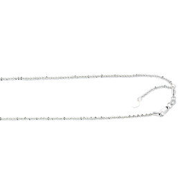10K 22-inch White Gold 1.50mm Shiny Diamond Cut Adjustable Sparkle Chain with Lobster Clasp 025AWSC-22