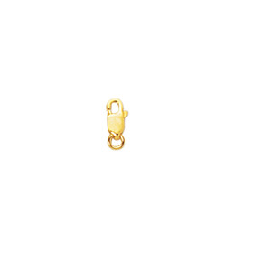 14K Yellow Gold 8.0mm Shiny Lobster Clasp LOB1