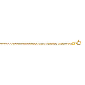 10K 16-inch Yellow Gold 1.90mm Diamond Cut Rolo Chain with Spring Ring Clasp 080R-16