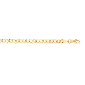 10K 18-inch Yellow Gold 4.40mm Diamond Cut Curb Lite Chain with Lobster Clasp 100LCRB-18