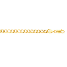 10K 24-inch Yellow Gold 5.30mm Diamond Cut Curb Lite Chain with Lobster Clasp 120LCRB-24
