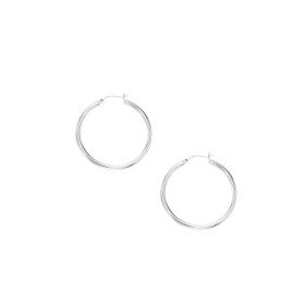 10K + W G 3X40MM HOOP EARRING 512WT