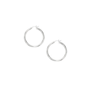10K + W G 3X30MM HOOP EARRING 514WT