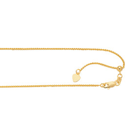 14K Y G 1.1MM 30-inch ADJUSTABLE WHEAT CHAIN ARW1-30