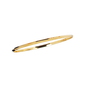 14K 8-inch Yellow Gold 2.75mm Shiny Round Stackable Bangle BG214-08