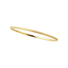 14K 8-inch Yellow Gold 3.15mm Shiny Round Concave Stackable Bangle BG227-08