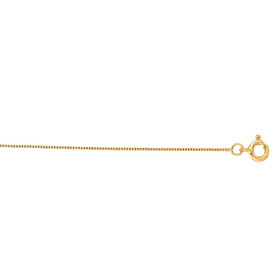 14K 20-inch 0.45mm Yellow Gold Box Chain with Lobster Lock LBOX028-20