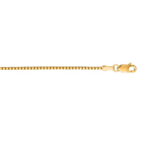 14kt 24-inch Yellow Gold 1.1mm Shiny Classic Box Chain with Lobster Clasp BOX068-24