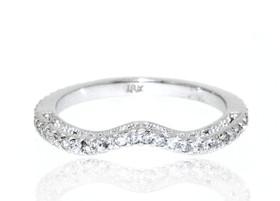18K White Gold Fancy Diamond Wedding Band 11005451