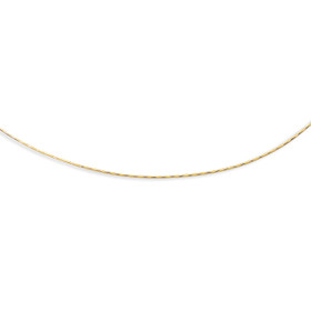 14kt 16 inch Yellow Gold 1.5mm Diamond Cut Round Omega Necklace with Screw Off Clasp DRM120-16