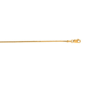 14kt 16 inch Yellow Gold 1.2mm Diamond Cut Franco Chain with Lobster Clasp FR040-16