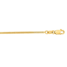 14kt 16 inch Yellow Gold 1.5mm Diamond Cut Gourmette Chain with Lobster Clasp GR040-16