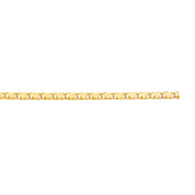14kt 5.50 inch Yellow Gold 2.9mm Diamond Cut HEarRingt Chain with Lobster Clasp HC1-0550