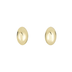14kt Yellow Gold 6.1x9.9mm Shiny Small Puffed Marquis Shape Post Earring with Push Back Clasp ER3651