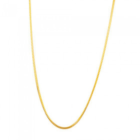 "14k Solid Yellow Gold 1.2mm 22"" Franco Chain"