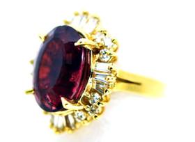 14K Yellow Gold Tourmaline and Diamond Ring 12000219