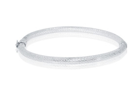 Sterling Silver 925 Fancy Bangle by Shin Brothers Jewelers Inc.