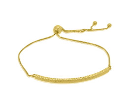 "14K Yellow Gold 8"" Bar Bracelet By Shin Brothers Jewelers Inc. 20001390"