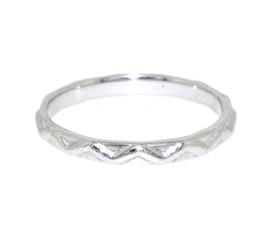 14K White Gold Knuckle Ring by Shin Brothers Jewelers Inc.