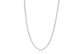 14K White Gold 16-inch Rolo Chain by Shin Brothers Jewelers Inc.