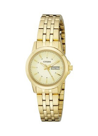 Citizen Women's EQ0603-59P Analog Display Japanese Quartz Gold Watch by Shin Brothers Jewelers Inc.