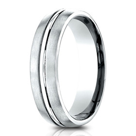 14K White Gold 6.5 mm Wedding Band 10017187 By Shin Brothers Jeweler Inc.