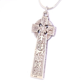 Silver Celtic Cross Charm by Shin Brothers Jewelers Inc.