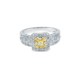 14K Yellow Gold Diamond Ring by Shin Brothers Jewelers Inc.