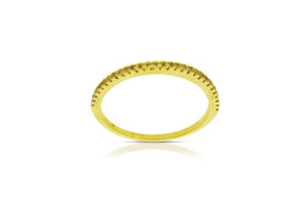 14K Yellow Gold Yellow Diamond Wedding Band by Shin Brothers Jewelers Inc.