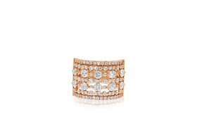 18K Rose Gold Diamond Band by Shin Brothers Jewelers Inc.