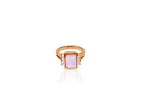 14K Rose Gold Pink Mother of Pearl Diamond Ring By Shin Brothers Inc.12002616