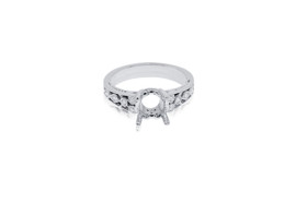 18K White Gold 0.16 carat  Diamond Engagement Ring Setting by Shin Brothers Jewelers Inc.