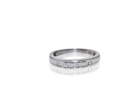 Sterling Silver Cubic Zirconia Wedding Band by Shin Brothers Jewelers Inc.  81010329