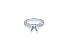 18K White Gold 1.20 Carat Diamond Engagement Ring Setting by Shin Brothers Jewelers Inc.11005580